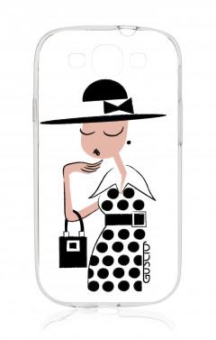 Cover Samsung Galaxy S3/S3 Neo - Signorina con vestito a pois