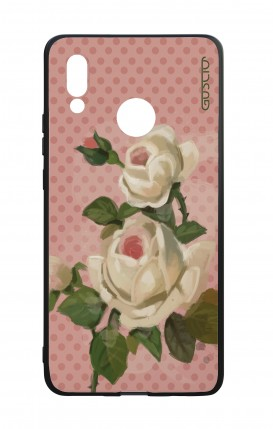 Huawei P20Lite WHT Two-Component Cover - Polka Dot and roses