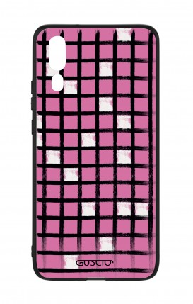Huawei P20 WHT Two-Component Cover - Pink Crossword