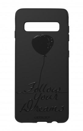 Case Skin Feeling Samsung S10 BLK - Follow your dream