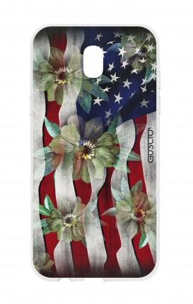 Cover Samsung J5 2017 - USA Flag&Flowers