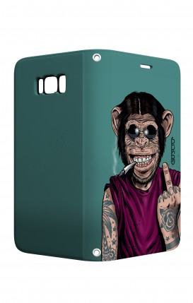 Case STAND VStyle Samsung S8 - Monkey's always Happy