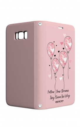 Case STAND VStyle Samsung S8 - Pink Balloon