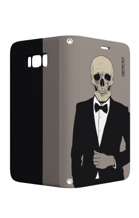 Cover STAND Samsung S8 - Teschio in Smoking