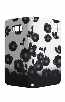 Case STAND VStyle Samsung S8 - Black Shade Flowers