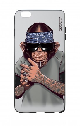 Apple iPhone 6 WHT Two-Component Cover - Chimp with bandana