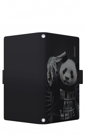 """Cover Universal Casebook LARGE/SHORT for 5.2""""-5.8"""" display - Panda rap"""