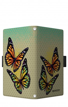 "Case UNV BOOK 5.2-5.8"" (Short-Ears) - Polka dot and butterflies"