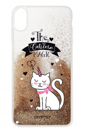Cover GLITTER Liquid Apple iPhone XS MAX GOLD - Caticorn