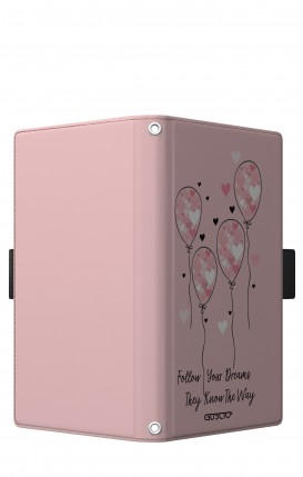 "Case UNV BOOK 5.2-5.8"" (Short-Ears) - Pink Balloon"