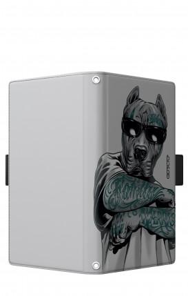 "Cover Universal Casebook LARGE/SHORT for 5.2""-5.8"" display - Pitbull tatuato"