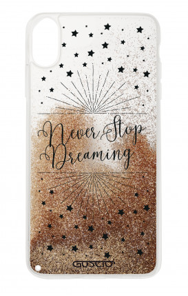 Cover GLITTER Liquid Apple iPhone XS MAX GOLD - Never Stop Dreaming