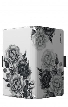"Case UNV BOOK 5.2-5.8"" (Short-Ears) - Black and White Bouquet"