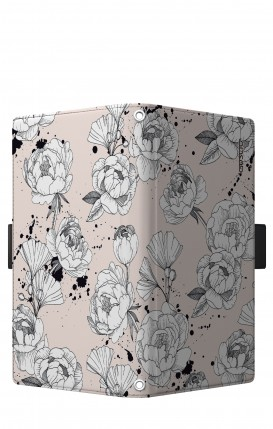 "Cover Universal Casebook LARGE/SHORT for 5.2""-5.8"" display - Peonie"