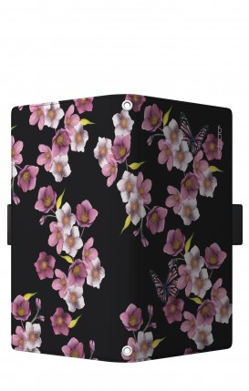"Cover Universal Casebook LARGE/SHORT for 5.2""-5.8"" display - Fiori di cigliegio"