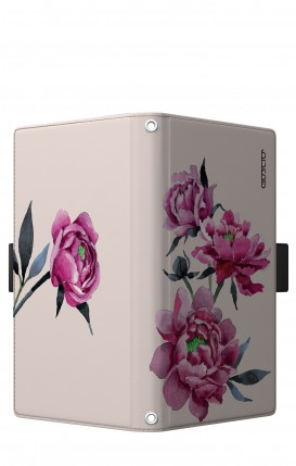 """Cover Universal Casebook LARGE/SHORT for 5.2""""-5.8"""" display - Peonie rosa"""
