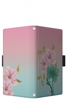 "Cover Universal Casebook LARGE/SHORT for 5.2""-5.8"" display - Fiori rosa"