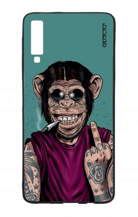 Cover Bicomponente Samsung A7 2018 - Scimmia felice
