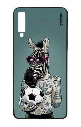 Cover Bicomponente Samsung A7 2018 - Zebra