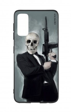 Cover Samsung S20 - Skull with Tommy-Gun