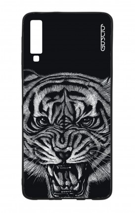 Samsung A7 2018 WHT Two-Component Cover - Black Tiger