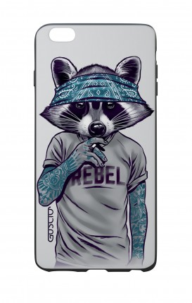 Apple iPhone 6 WHT Two-Component Cover - Raccoon with bandana