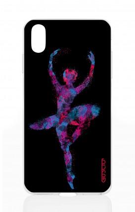 Cover Apple iPhone X/XS - Ballerina fondo nero
