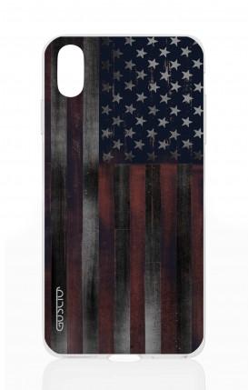 Cover Apple iPhone X - Dark USA Flag
