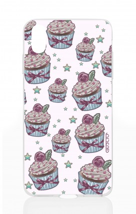 Cover Apple iPhone X/XS - Sweet Cupcake Pattern