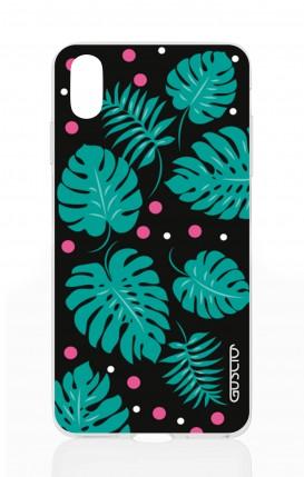 Cover Apple iPhone X/XS - Foglie e Pois