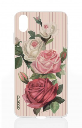 Cover Apple iPhone X - Roses and stripes
