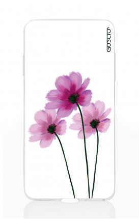 Cover Apple iPhone X/XS - Flowers on white