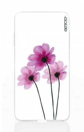 Cover Apple iPhone X - Flowers on white