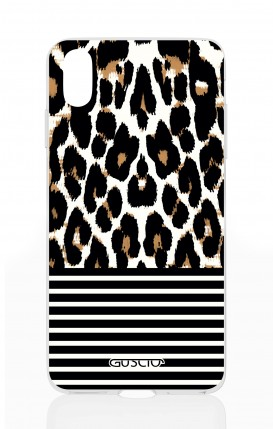 Cover Apple iPhone X - Animalier & Stripes