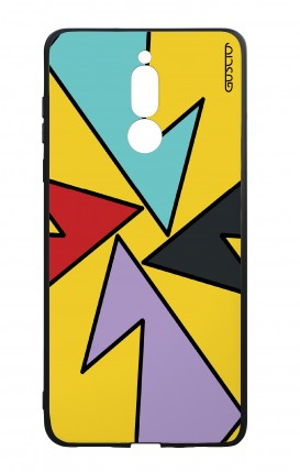 Huawei Mate10Lite WHT Two-Component Cover - Yellow Abstract with shapes