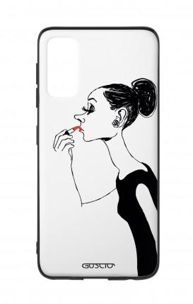 Cover Bicomponente Samsung S20 - Miss con rossetto