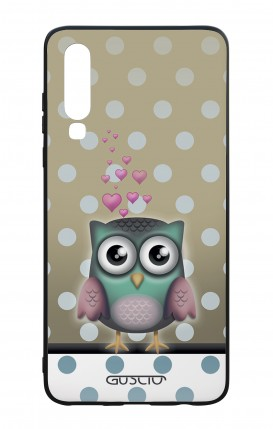 Huawei P30 WHT Two-Component Cover - Polka Dot Owl