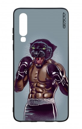 Huawei P30 WHT Two-Component Cover - Boxing Panther