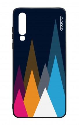 Cover Bicomponente Huawei P30 - Cime su fondo Blu