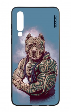 Huawei P30 WHT Two-Component Cover - Pitbull Tattoo