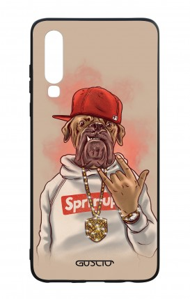 Huawei P30 WHT Two-Component Cover - Rap Dog