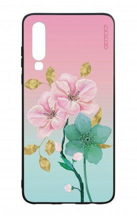 Huawei P30 WHT Two-Component Cover - Pink Flowers