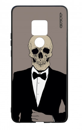Huawei Mate20 WHT Two-Component Cover - Tuxedo Skull