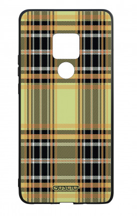 Huawei Mate20 WHT Two-Component Cover - Yellow tartan