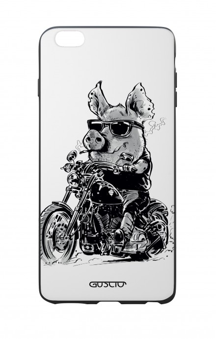 Apple iPhone 6 WHT Two-Component Cover - Biker Pig
