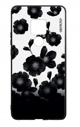 Cover Bicomponente Huawei Mate 20 - Fiori neri sfumati