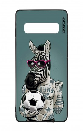 Cover Bicomponente Samsung S10 - Zebra