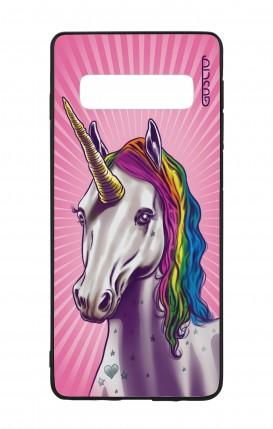 Cover Bicomponente Samsung S10 - Unicorno