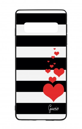 Samsung S10 WHT Two-Component Cover - Loving Stripes