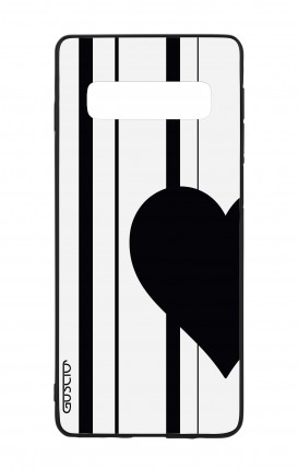 Samsung S10 WHT Two-Component Cover - Half Heart